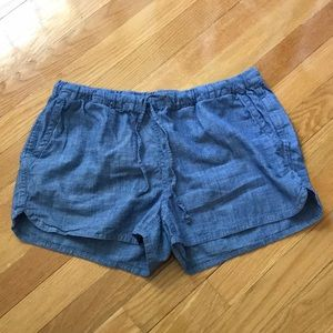 J. Crew chambray drawstring shorts